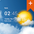 Transparent clock weather Pro for Android